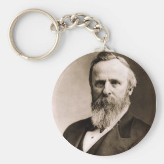 Rutherford B. Hayes Basic Round Button Keychain