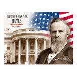 Rutherford B. Hayes - diecinueveavo presidente de Postales
