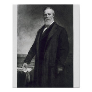 Rutherford B. Hayes, diecinueveavo presidente del  Póster