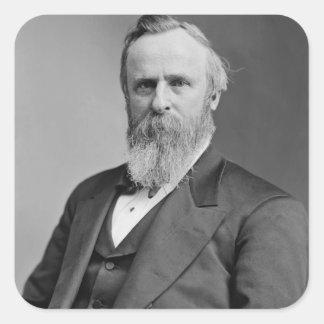 Rutherford B. Hayes Pegatina Cuadrada