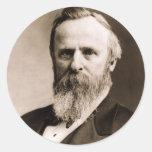 Rutherford B. Hayes Pegatina Redonda