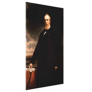 RUTHERFORD B. HAYES Portrait by Daniel Huntington Canvas Print