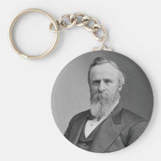 Rutherford B. Hayes Portrait by Mathew Brady Basic Round Button Keychain