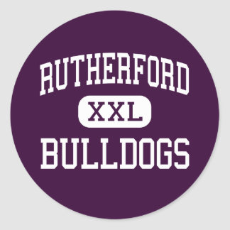 Rutherford - Bulldogs - High - Rutherford Classic Round Sticker
