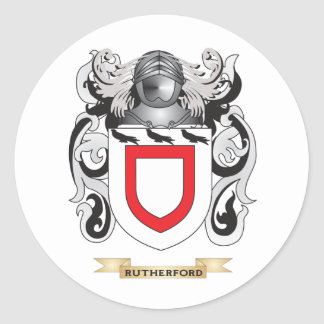 Rutherford Coat of Arms (Family Crest) Classic Round Sticker