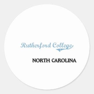 Rutherford College North Carolina City Classic Classic Round Sticker