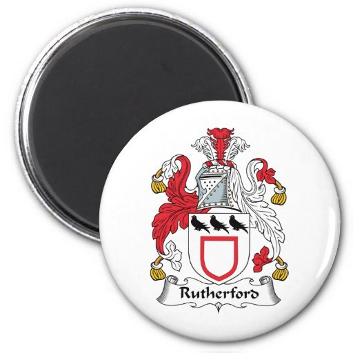 Rutherford Family Crest Magnets