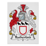 Rutherford Family Crest Poster