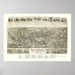 Rutherford, mapa panorámico de NJ - 1904 Poster
