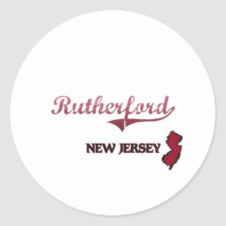 Rutherford New Jersey City Classic Classic Round Sticker
