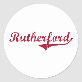 Rutherford New Jersey Classic Design Classic Round Sticker