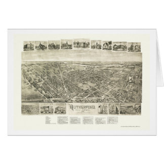 Rutherford NJ Panoramic Map - 1904 Card