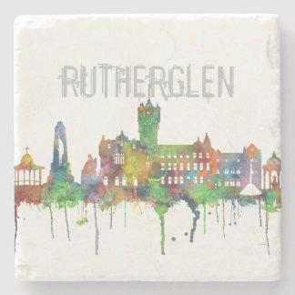 RUTHERGLEN, SCOTLAND SKYLINE STONE COASTER