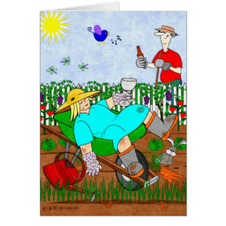 Ruthie and Ralphie Relax in the Garden - Card
