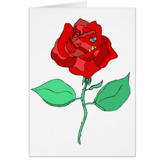 Ruthless Rose Greeting Card