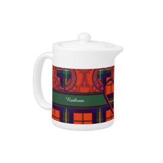 Ruthven clan Plaid Scottish tartan Teapot