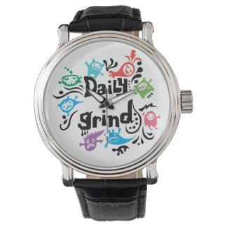 Rutina diaria reloj de mano