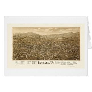 Rutland, VT Panoramic Map - 1885 Cards