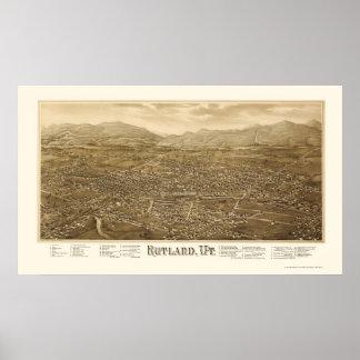 Rutland, VT Panoramic Map - 1885 Poster