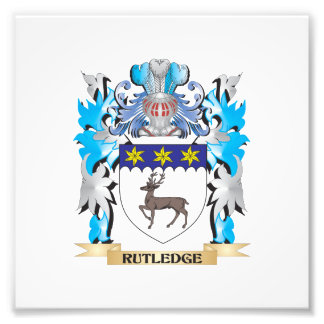 Rutledge Coat of Arms - Family Crest Photograph