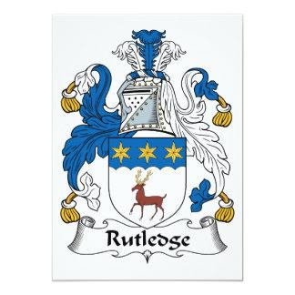 Rutledge Family Crest Personalized Invite