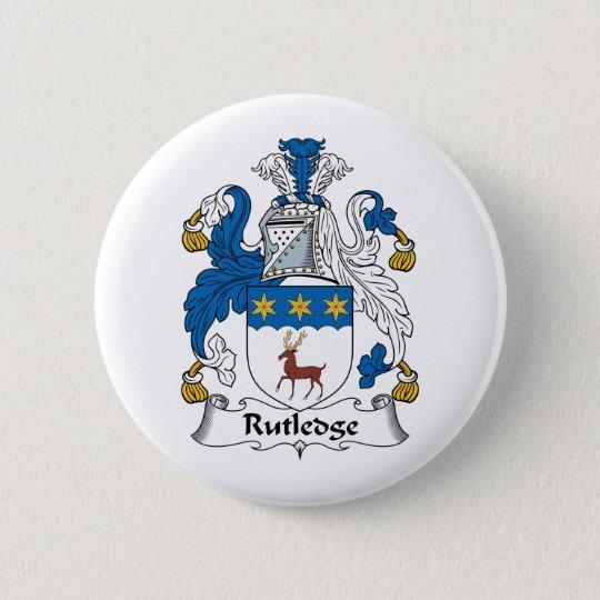 Rutledge Family Crest Pinback Button