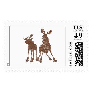 Rutt and Tuke Silhouette Disney Postage Stamp