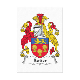 Rutter Family Crest Stretched Canvas Prints