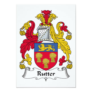 Rutter Family Crest Personalized Announcement