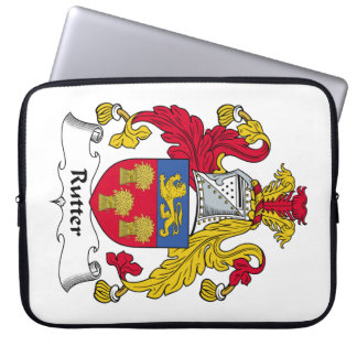 Rutter Family Crest Computer Sleeve