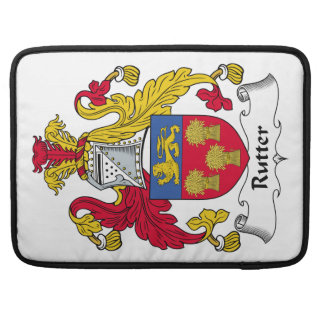 Rutter Family Crest MacBook Pro Sleeve