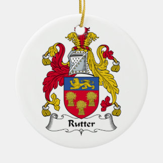 Rutter Family Crest Christmas Ornaments