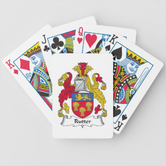 Rutter Family Crest Bicycle Poker Deck