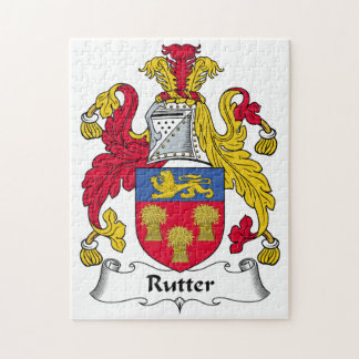 Rutter Family Crest Jigsaw Puzzles