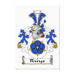 Ruys Family Crest Gallery Wrap Canvas