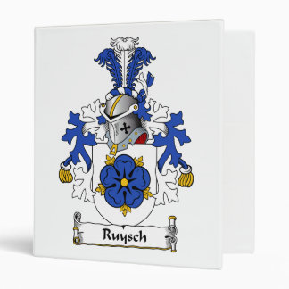Ruysch Family Crest Vinyl Binders
