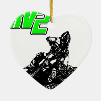 rv2bikeRV.png Ceramic Ornament