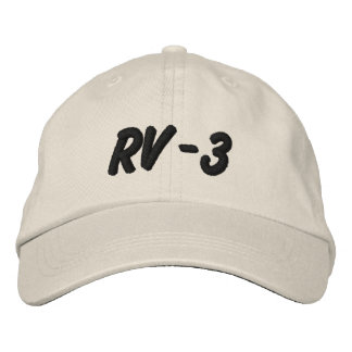 RV-3 EMBROIDERED HATS