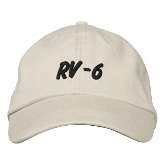 RV-6 EMBROIDERED HATS