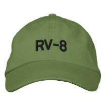 RV-8 EMBROIDERED BASEBALL HAT