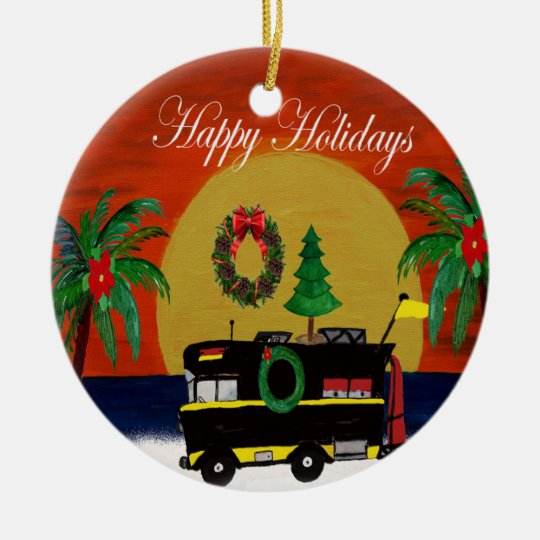 Rv Camper Christmas Ornament From My Art Zazzlecom