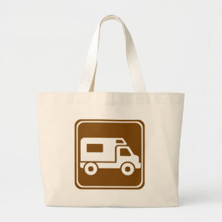 RV Campground Highway Sign Jumbo Tote Bag