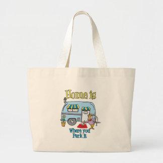 Rv Camping Jumbo Tote Bag
