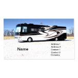 rv grande o vehículo recreativo tarjetas de visita