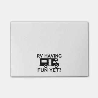 RV Having Fun Yet Funny Wordplay Post-it Notes