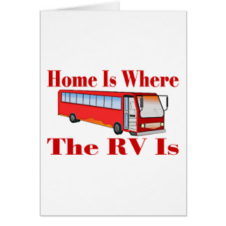 RV Home Greeting Card