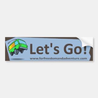 RV Let's Go Bumper Sticker
