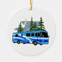 RV Motor Home Camping Ceramic Ornament
