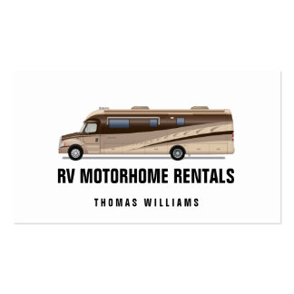 RV Motorhome Rentals and Sales Business Card