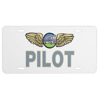 RV Pilot License Plate
